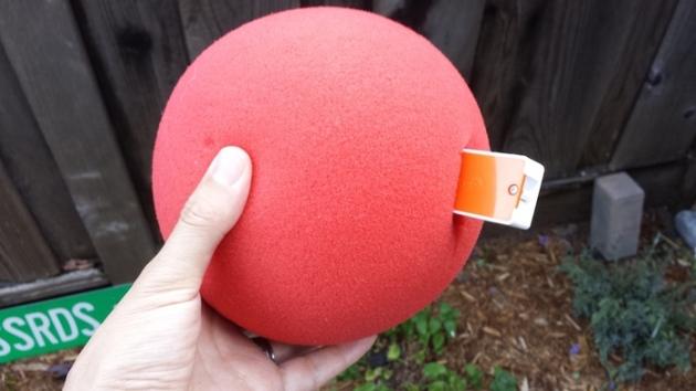 red ball and sensor